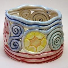 Coil bowl, tealight holder