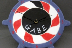 Personalized christening, ships wheel