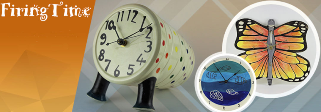 Create personalized ceramic clocks like these!